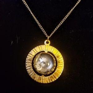 Jewelry - Vintage Elvis Presley reversible pendant